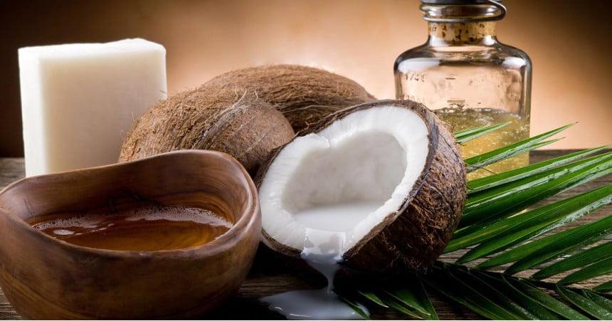 Acne de l'oli de coco
