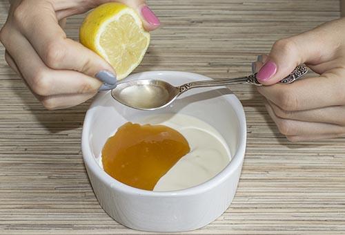 Ingrédients du masquemiel citronyaourt contre l'acné