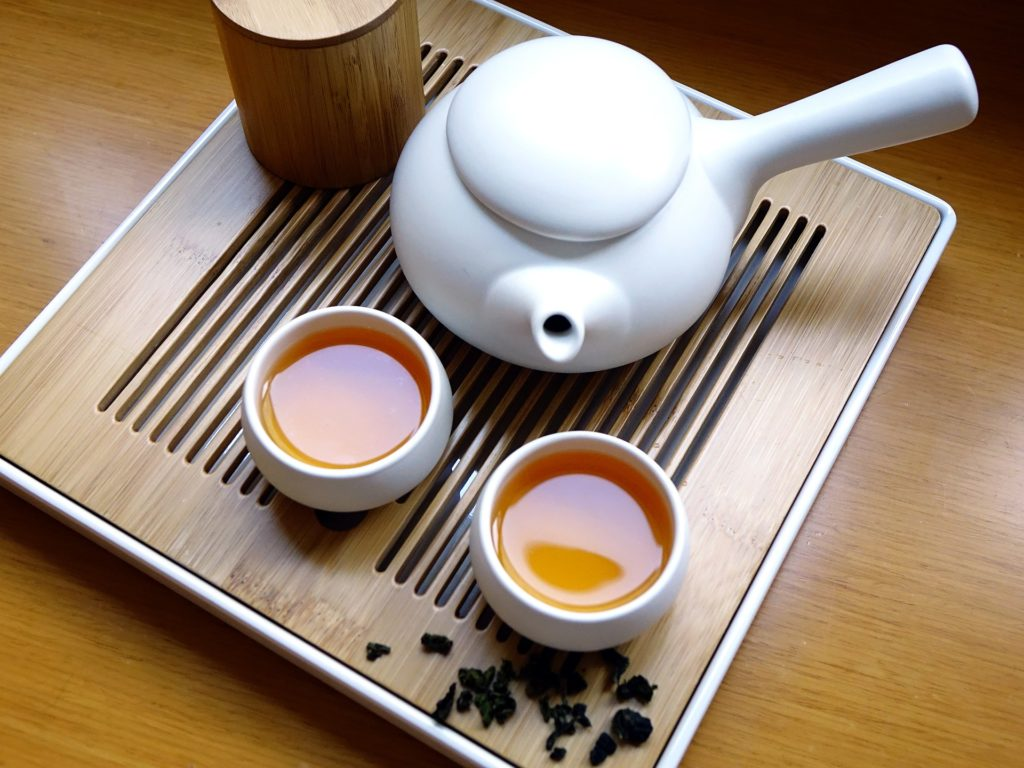 Stockage du thé Oolong