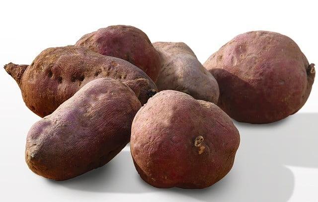 Aliments riches en fibres : Patates douces