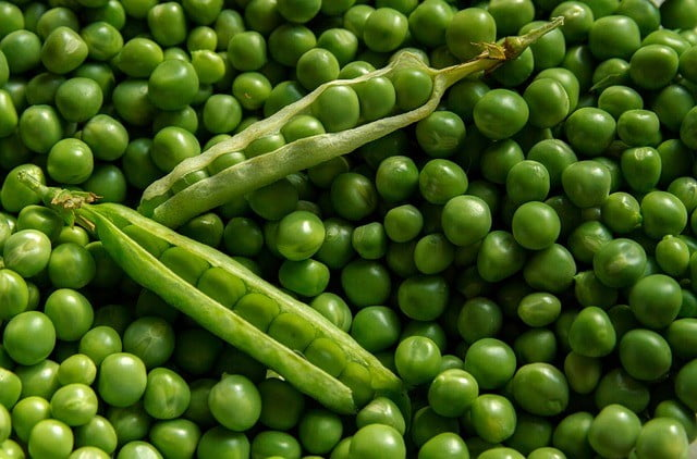 Aliment riche en fibre : Les pois verts
