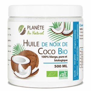 cicatrice d'acné traitement naturel : huile de noix de coco pure, vierge et biologique