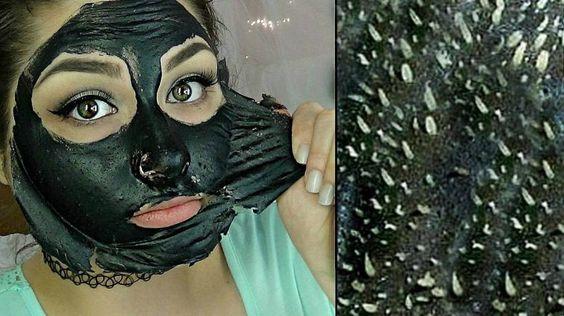 Masque charbon point noir pour enlever les points noirs sur le nez