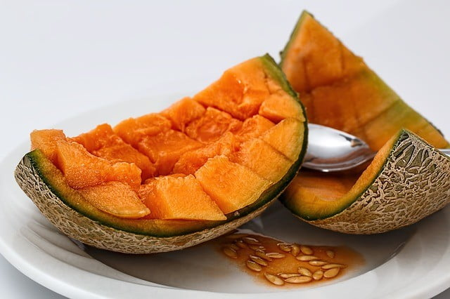 Le melon pour supprimer double menton