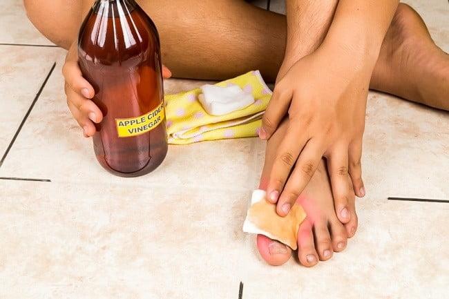 vinaigre de cidre bienfaits pieds
