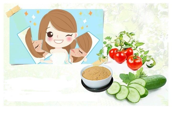 maschera per il viso contro l'acne al cetriolo'acné visage