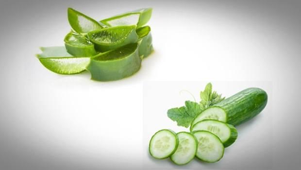 Aloe Vera acné : masque facial concombre et aloe vera