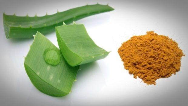 Aloe vera acné : Masque Aloe Vera et Curcuma contre l'acné