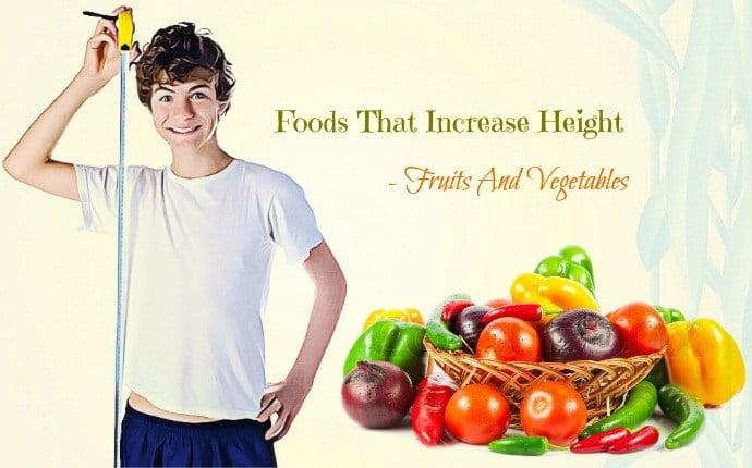 Les fruits et les légumes pour grandir de taille à 25 ans