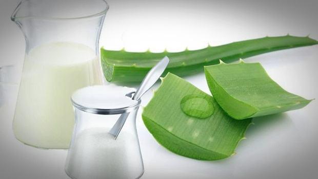 Aloe Vera acné : Masque au lait et à l'aloe vera