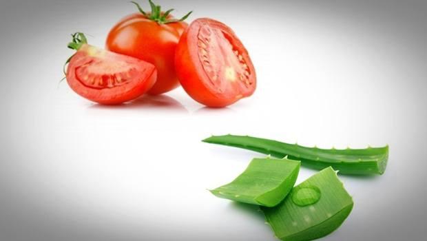 Aloe vera acné : Masque au jus de tomate et à l'aloe vera contre l'acné et les cicatrices d'acné