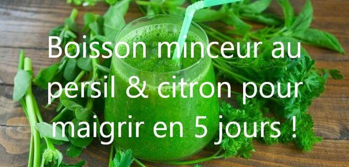 Boisson au persil et au jus de citron pour maigrir en 5