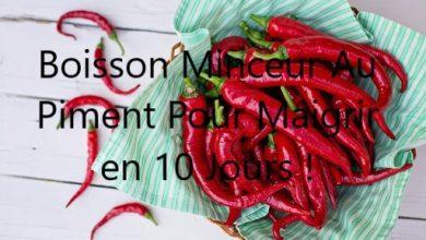 Photo of Boisson au piment de Cayenne pour maigrir efficacement en 10 jours !
