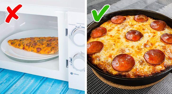 Aliments à ne pas mettre au micro-ondes : Pizza